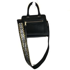 Rebecca Minkoff Avery satchel with Guitar strap